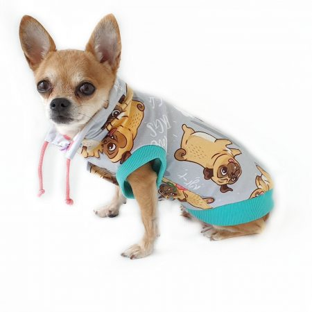 Dog clothes - Sweatshirt for dogs - Pattern Dog Clothes - Dog hoodie - Funny small shirt for dogs - Pugs gift - Dog sweater made to order